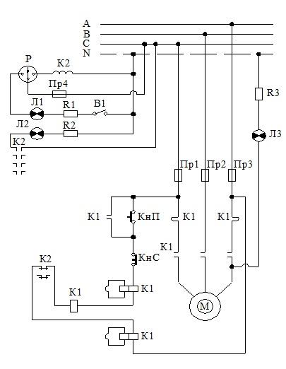 Схема подключения агрегатов типа НДГ.